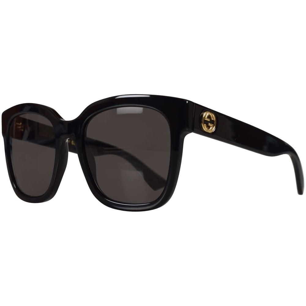 abc2eee1f4 GUCCI SUNGLASSES Gucci Black Square Frame Sunglasses - Men from ...