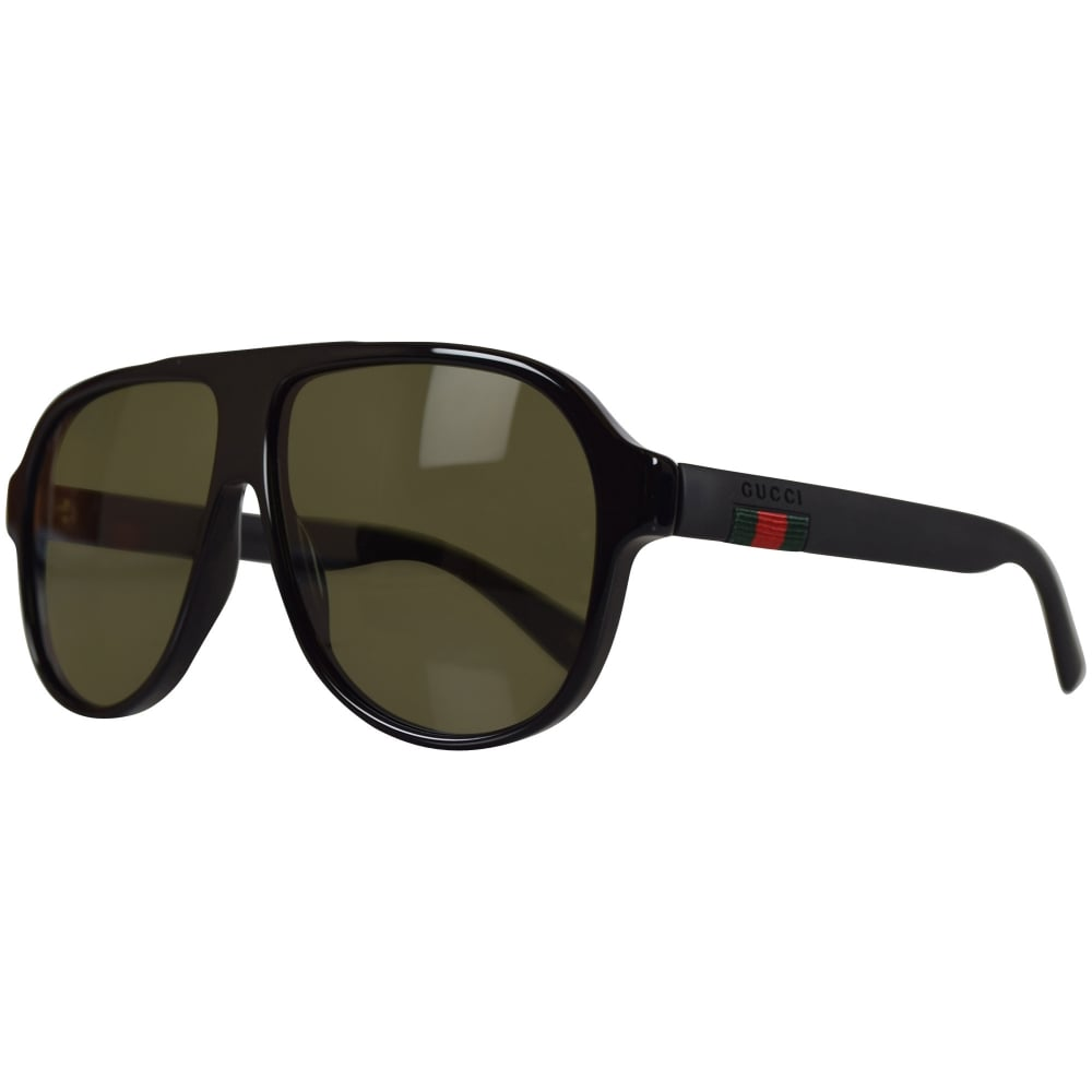 GUCCI SUNGLASSES Gucci Black Aviator Sunglasses - Men from ...