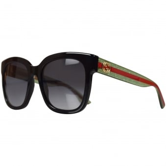 Gucci Black/Green Glitter Sunglasses