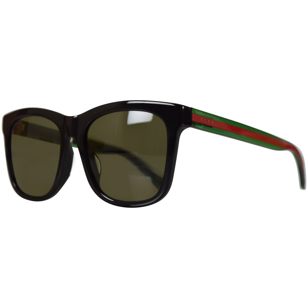 9b7515857fce GUCCI SUNGLASSES Gucci Black Square Frame Sunglasses - Men from ...