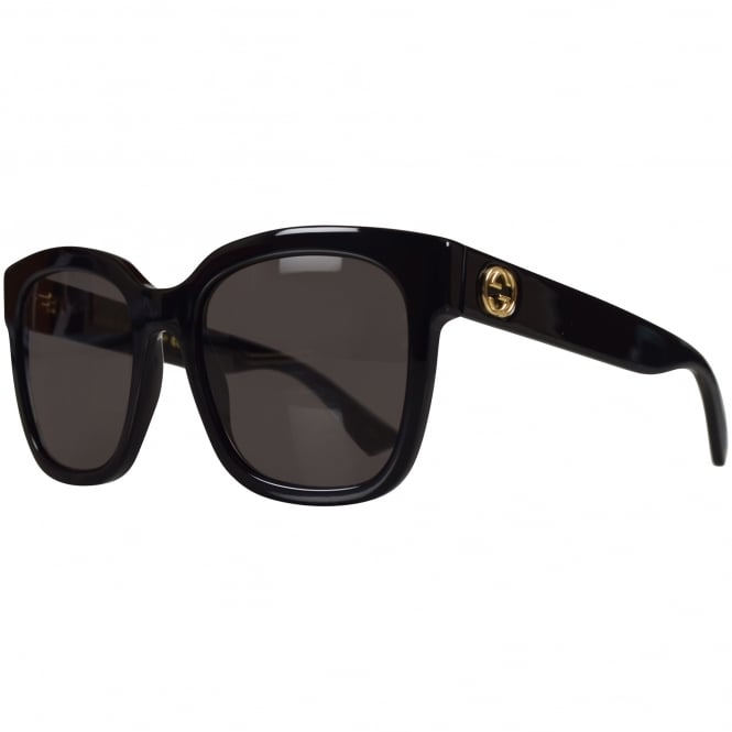 GUCCI SUNGLASSES Gucci Black Square Frame Sunglasses