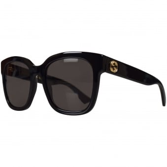 Gucci Black Square Frame Sunglasses