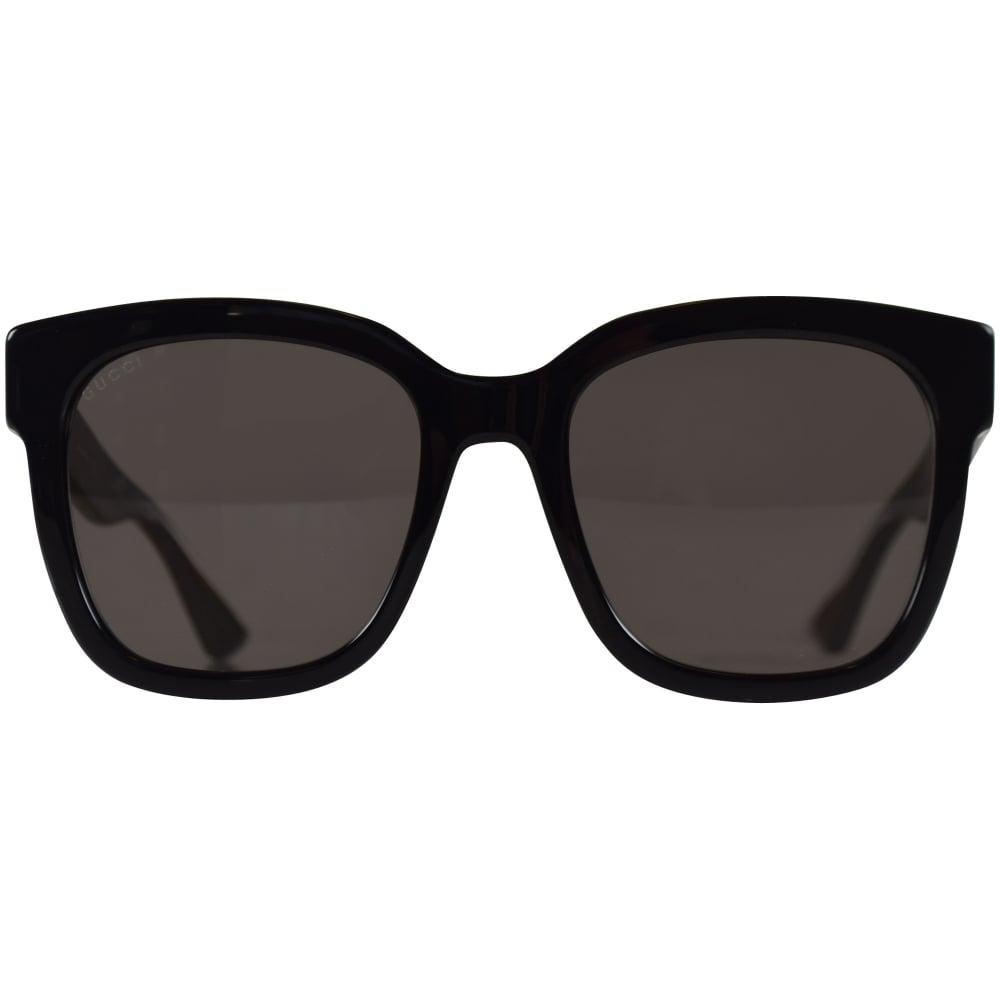 514bfa90510 GUCCI SUNGLASSES Gucci Black Square Frame Sunglasses - Men from ...