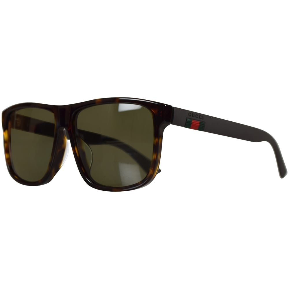 37b7af96764 GUCCI SUNGLASSES Gucci Brown Square Frame Sunglasses - Men from ...