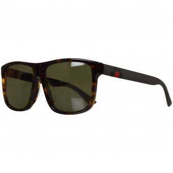 Gucci Brown Square Frame Sunglasses