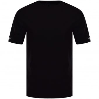 Helmut Lang Black Slit Sleeve T-Shirt