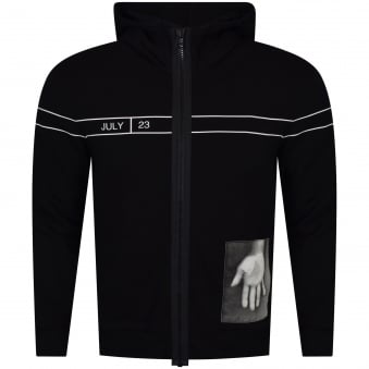 Helmut Lang Black Zip Through Dream Hoodie