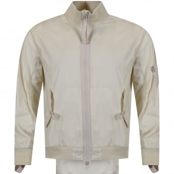 Helmut Lang Off White Lightweight Bomber Jacket