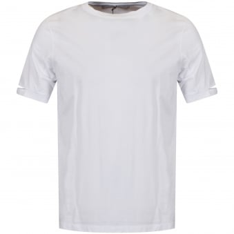 Helmut Lang White Slit Sleeve T-Shirt
