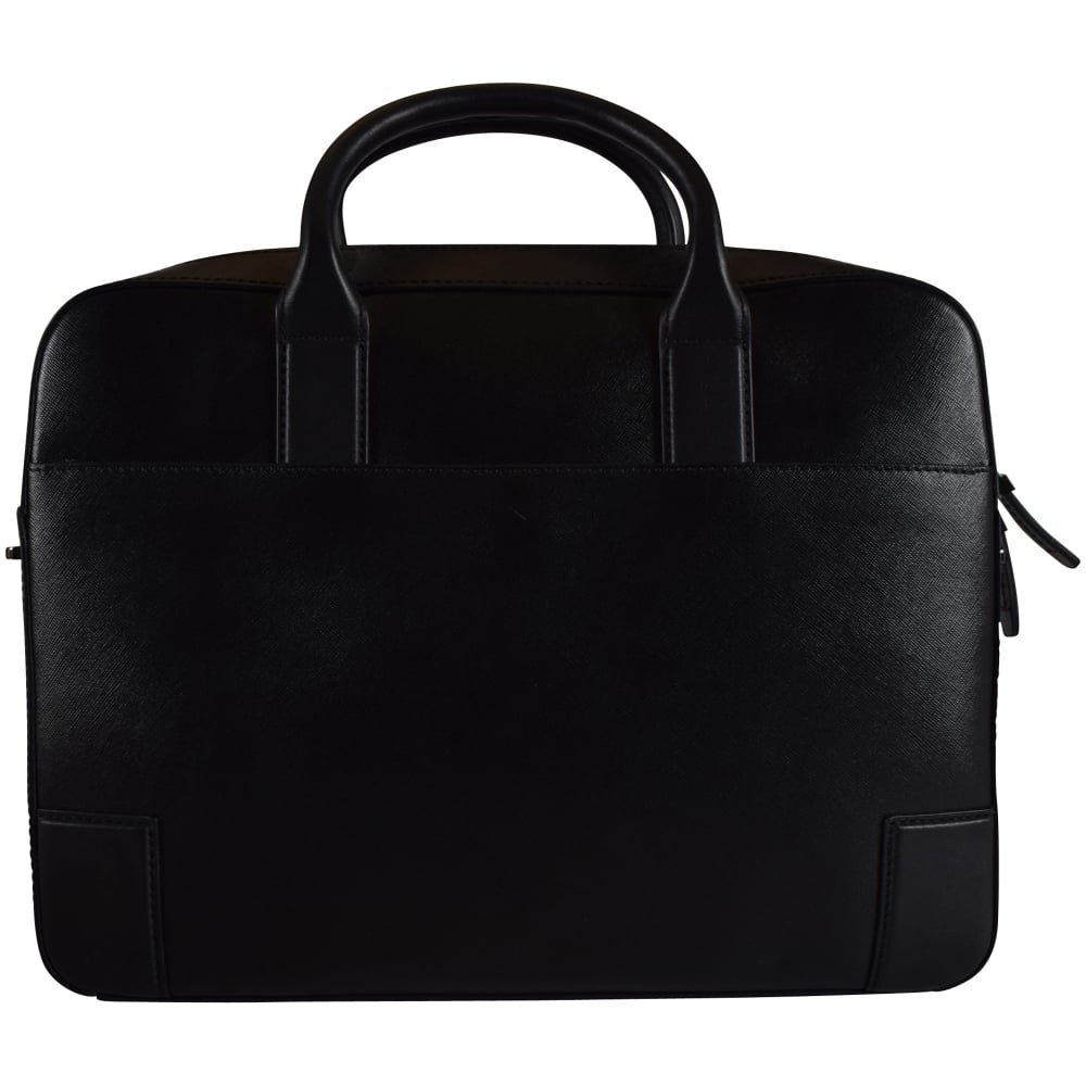 14421f3655 HUGO HOSIERY Hugo Boss Accessories Black Leather Business Bag ...