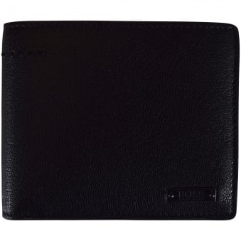 Hugo Boss Accessories Black Leather Journey Wallet