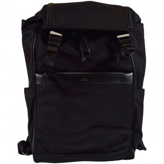 Hugo Boss Accessories Black Nylon Travel Backpack