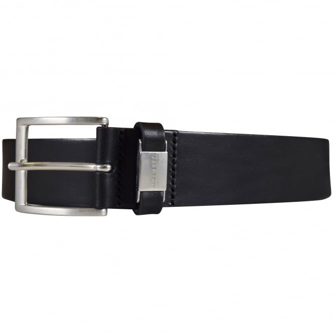 HUGO BOSS Black 'Connio' Silver Buckle Belt
