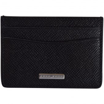 Hugo Boss Signature Grained Leather Card Holder