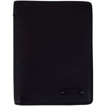 Hugo Boss Accessories Tall Black Leather Journey Wallet