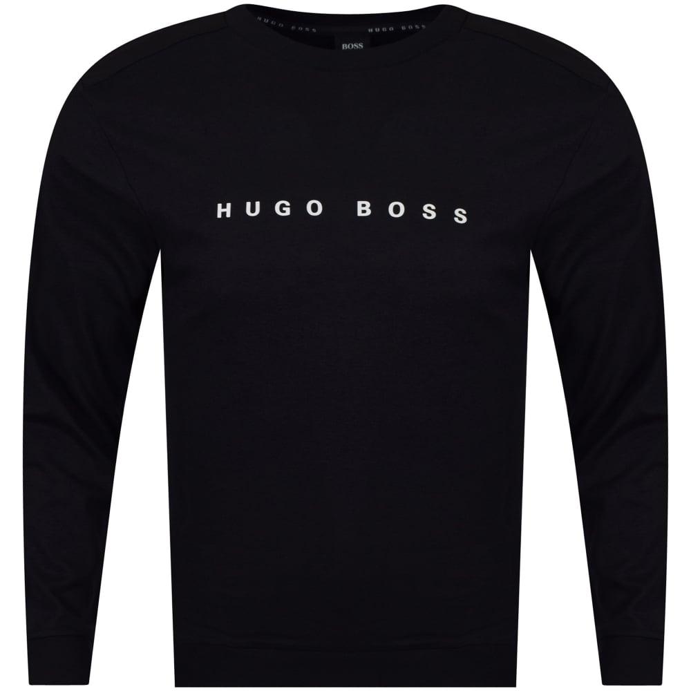 09544256 HUGO BOSS Hugo Boss Black Printed Crew Neck Sweatshirt - Department ...