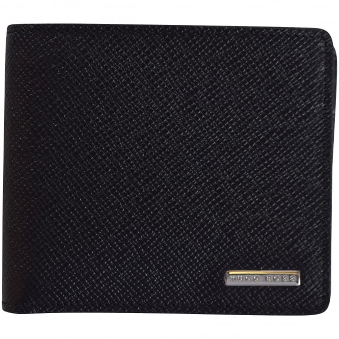 HUGO BOSS Black Signature Grained Leather Wallet