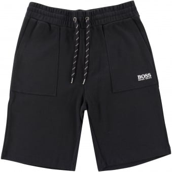 Hugo Boss Black Textured Jogger Shorts