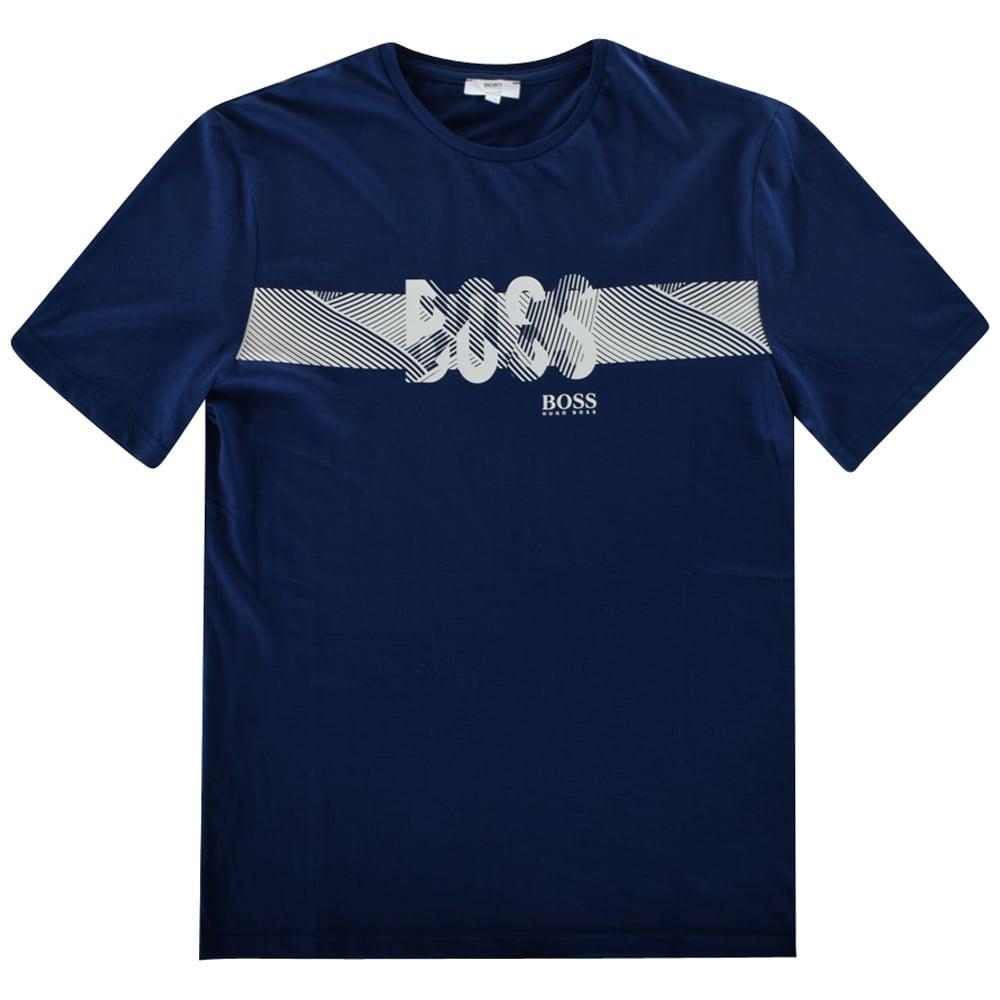 8291bb97f HUGO BOSS JUNIOR Hugo Boss Boys Blue/White Logo T-Shirt - Junior ...