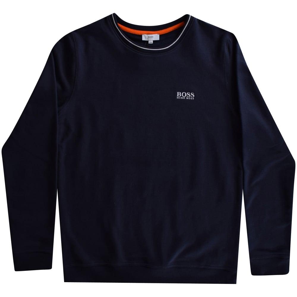 14ea5fb269b HUGO BOSS JUNIOR Hugo Boss Boys Navy Logo Sweatshirt - Junior from ...