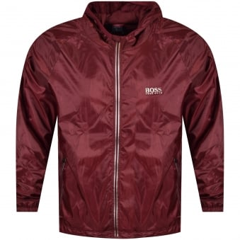 Hugo Boss Burgundy Lightweight Logo Jacket