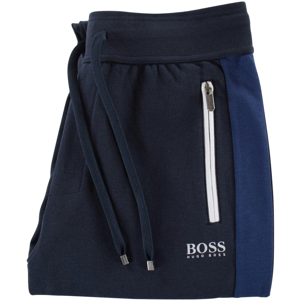 48e687fcb HUGO BOSS Hugo Boss Dark Blue Stripe Side Detailing Jogging Bottoms ...