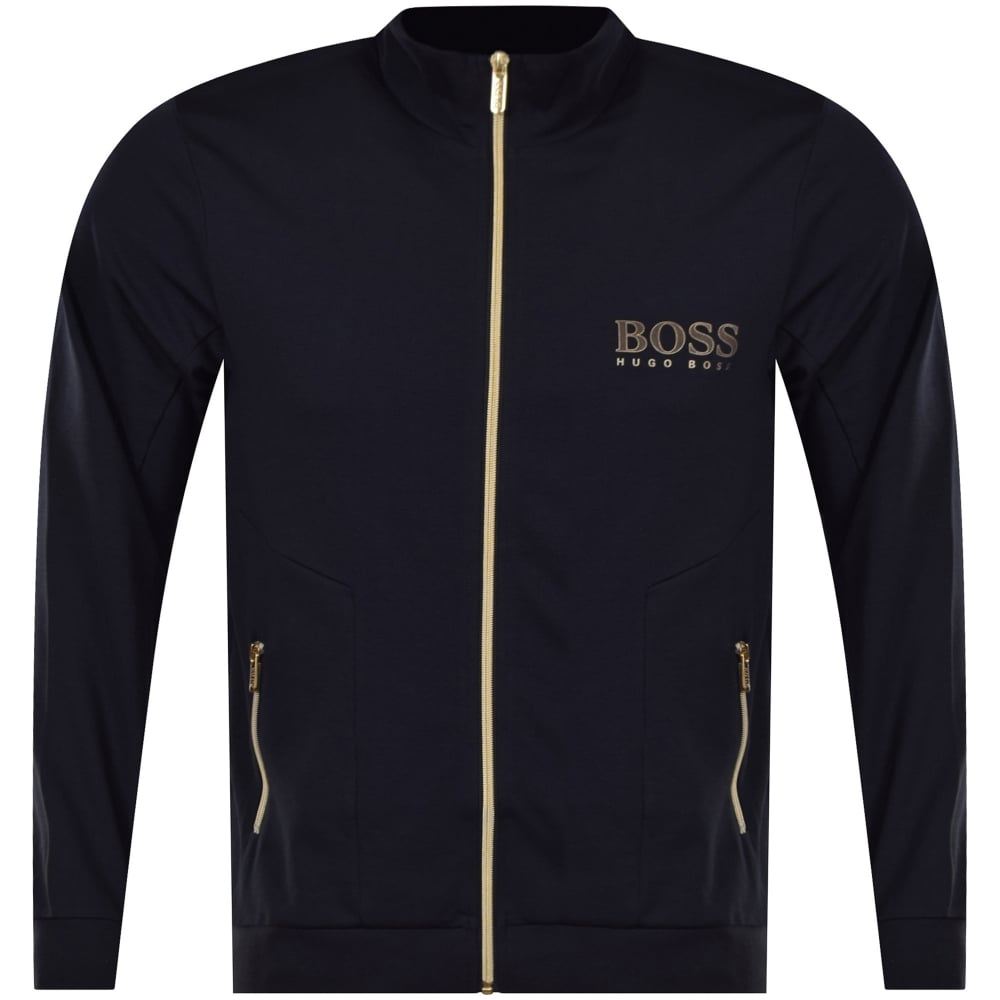f8c8c7b71 HUGO BOSS Dark Blue Zip Through Tracksuit Top - Department from ...