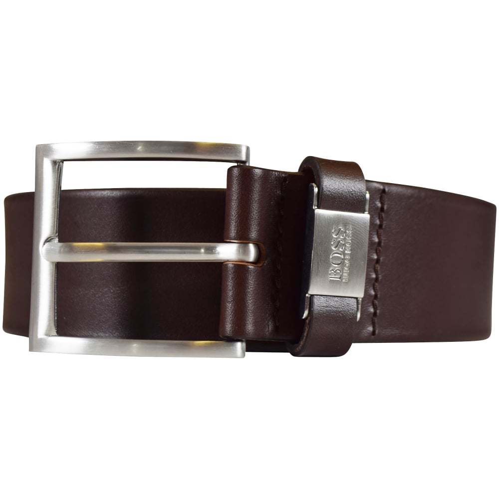 89cf59bba BOSS Hugo Boss Dark Brown 'Connio' Leather Belt - Department from ...