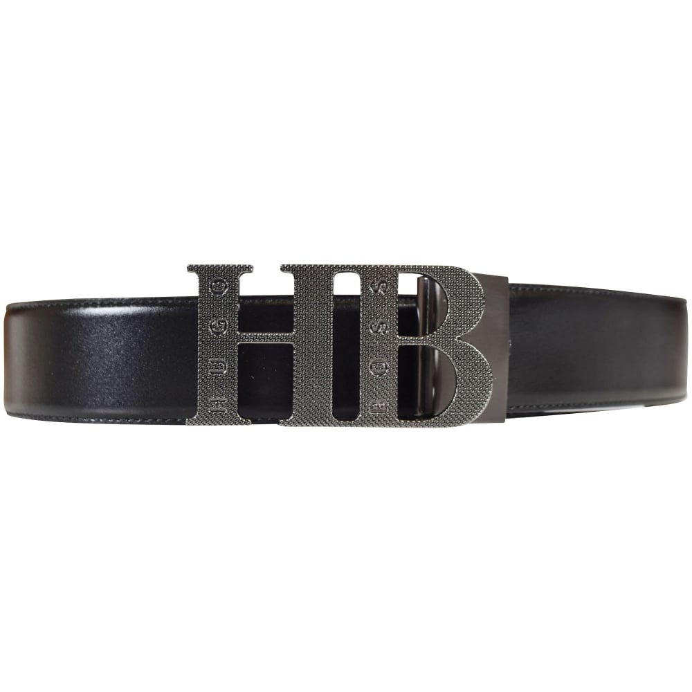 3c27ab00ae6 BOSS Hugo Boss Green Accessories Black/White Reversible Buckle Belt ...
