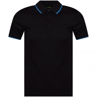 Hugo Boss Green Black/Reflective Back Logo Polo Shirt