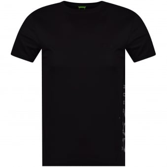 Hugo Boss Green Black/Reflective Side Logo Slim Fit T-Shirt