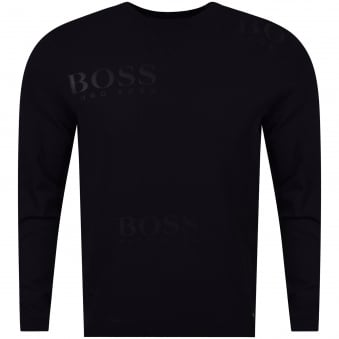 Hugo Boss Green Black Rhett Knitted Embroidered Jumper