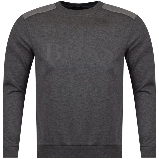 HUGO BOSS GREEN Dark Grey Large Logo Sweatshirt