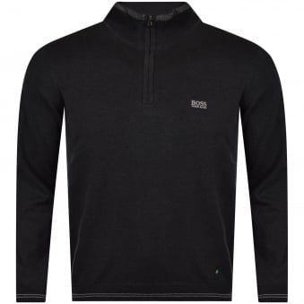 Hugo Boss Charcoal Quarter Zip Jumper