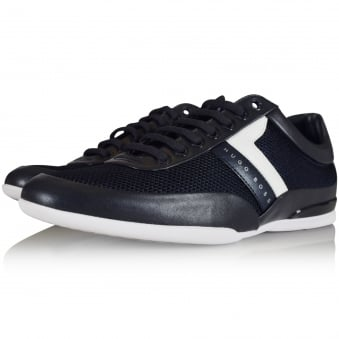 Hugo Boss Green Navy Space Logo Trainers