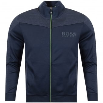 Hugo Boss Green Navy Zip Through Jumper