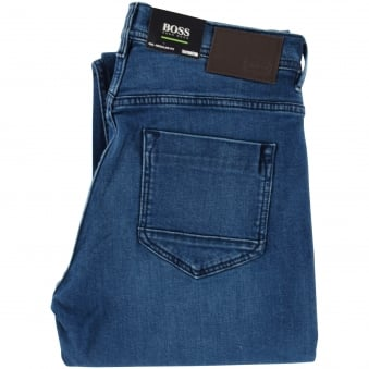 Hugo Boss Green Regular Fit  Stretch Cotton Navy Denim Jeans