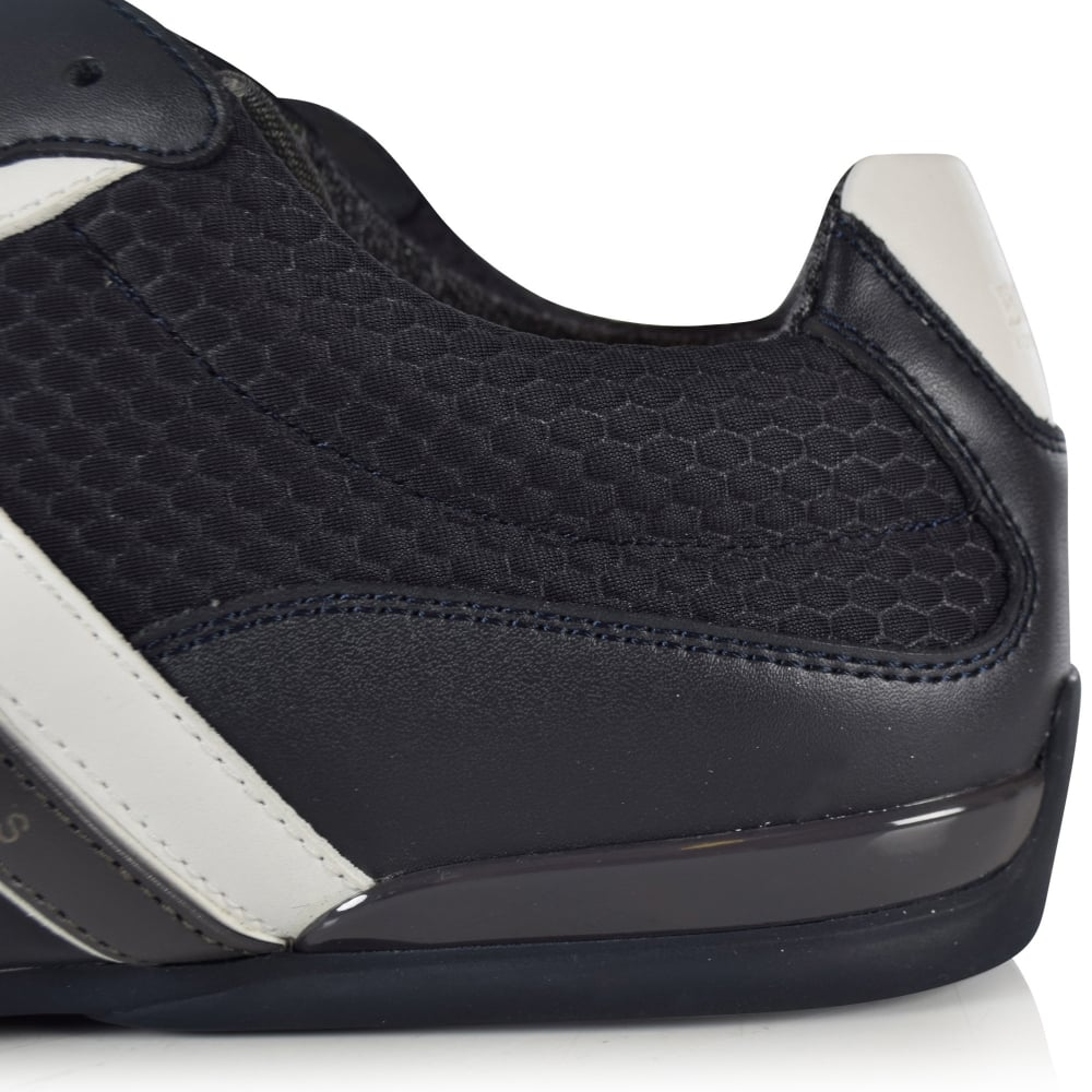 6c5a9320583 BOSS Hugo Boss Green Space Low Navy Trainers - Men from ...