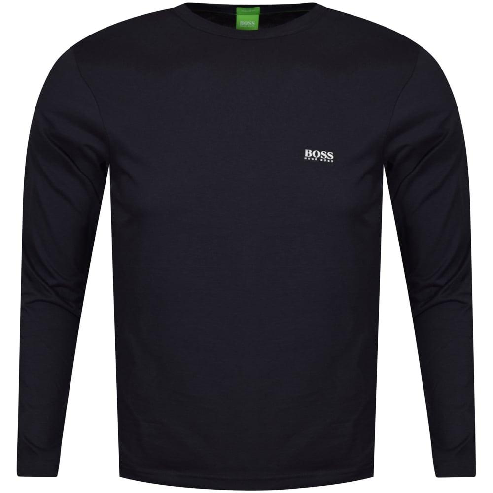 Hugo Boss Green Togn Long Sleeved Navy T-shirt