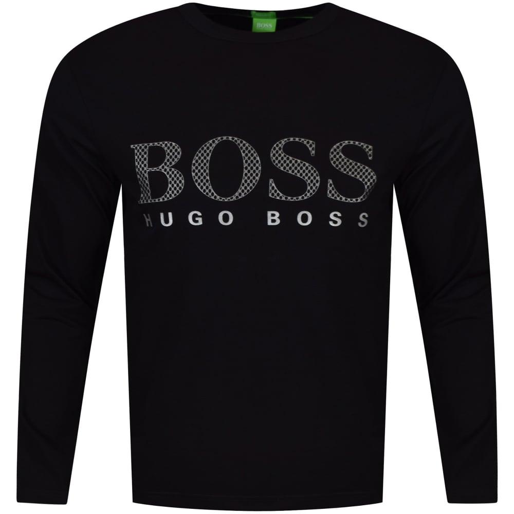 boss athleisure hugo boss green togn us black luxury long sleeved t shirt men from. Black Bedroom Furniture Sets. Home Design Ideas