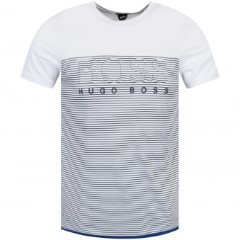 Hugo Boss Green White Stripe T-Shirt