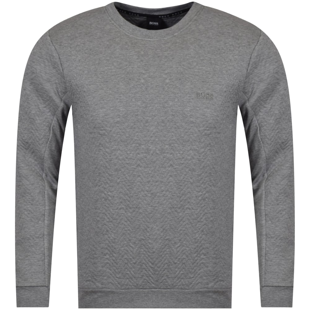 8e8549102 HUGO BOSS Hugo Boss Grey Zig-Zag Stitch Logo Sweatshirt - Department ...
