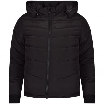 Hugo Boss Junior Black Hooded Puffer Jacket