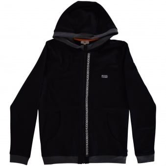 Hugo Boss Junior Black Zip Hoodie