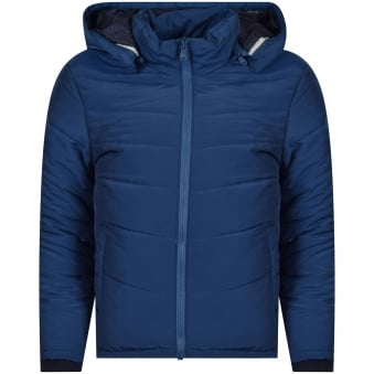 Hugo Boss Junior Blue Hooded Puffer Jacket