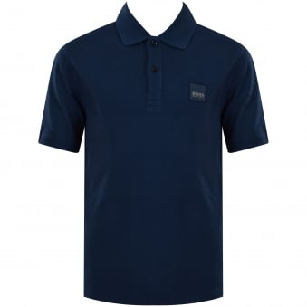 Hugo Boss Junior Blue Patch Logo Polo Shirt