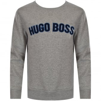Hugo Boss Junior Grey Large Text Logo Sweatshirt