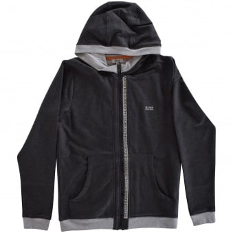 Hugo Boss Junior Grey Zip Hoodie