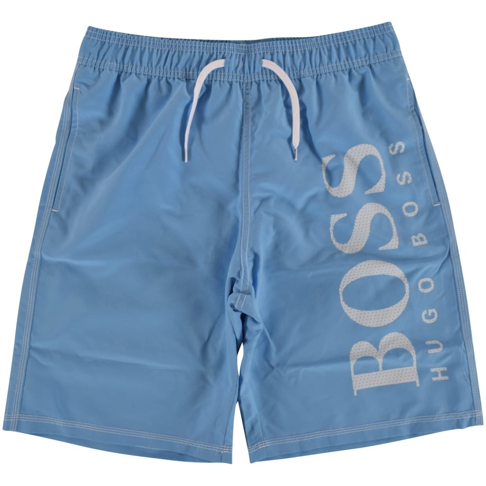 7ace43b538 HUGO BOSS JUNIOR Hugo Boss Junior Light Blue Logo Swim Shorts ...