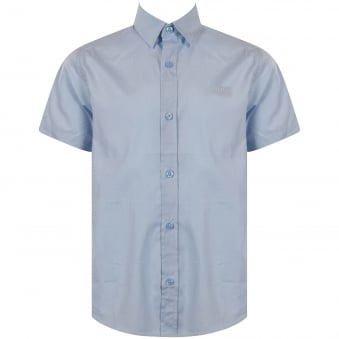 Hugo Boss Junior Light Blue Short Sleeve Shirt